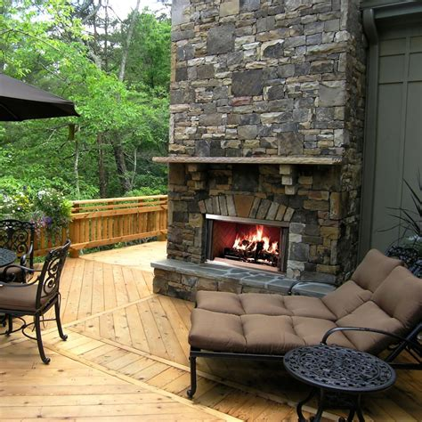 Outside Fireplace by Outdoor Fireplaces Arizona Fireplaces