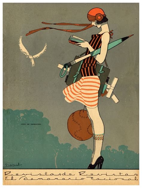 vintage fashion print illustration