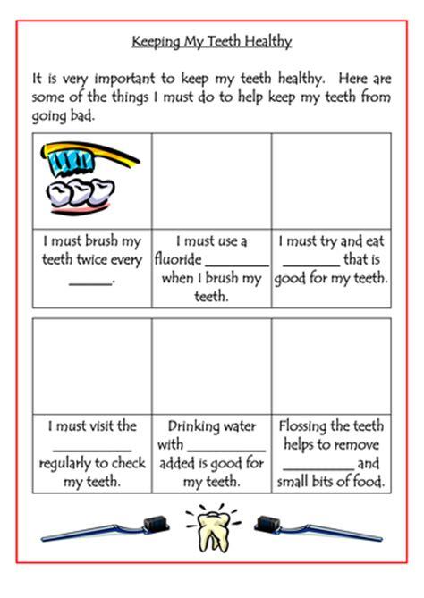 keeping teeth healthy worksheet by dazayling teaching