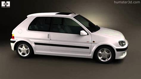 peugeot 106 gti 3 door 1997 by 3d model store humster3d