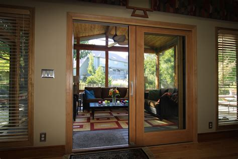 Screen Porch Doors by Leawood Ks Screen Porch With Custom Pella Doors Azek Deck