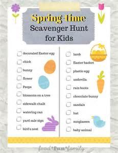 Easter Scavenger Hunt by Easter Spring Scavenger Hunt For Kids