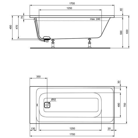 badewannen ideal standard ideal standard tonic ii k 246 rperform badewanne 170 x 75 cm