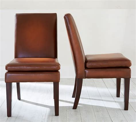 Pottery Barn Leather Dining Chair Turner Leather Side Chair Pottery Barn How About A Of Sturdy Comfortable Side Chairs