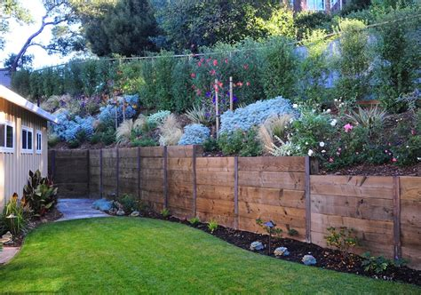 wooden garden wall wooden retaining walls landscaping network