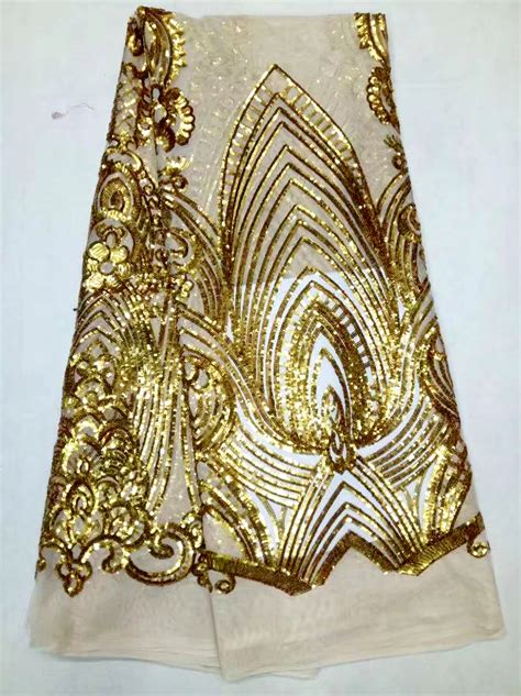 net french embroidery beaded sequin lace fabric for ladies suit embroidery african french net lace sequins fabric red