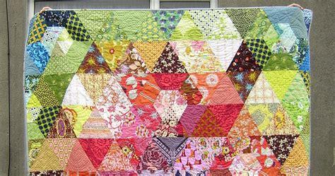 Patchwork Prism Quilt - non euclidean quilting patchwork prism