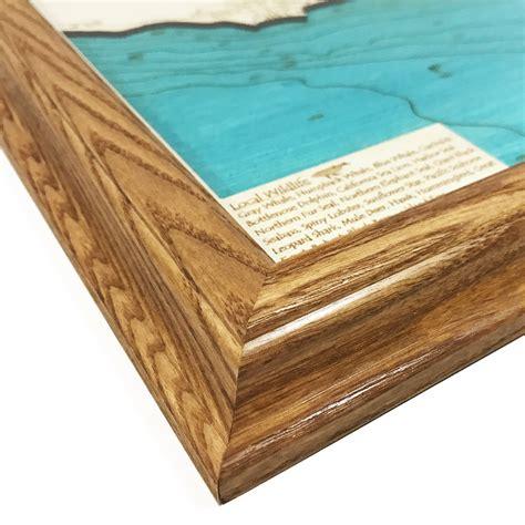 woodworking santa barbara santa barbara ca single depth nautical wood map 8 quot x 10