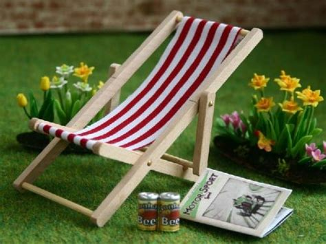 dolls house garden garden furniture deckchair dolls house parade for dolls houses miniatures