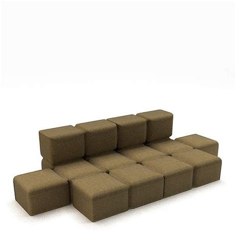 Sofa Blocks by 3d Model Brown Block Cgtrader