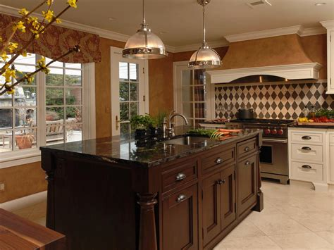 traditional kitchens with islands galley kitchen lighting ideas pictures ideas from hgtv