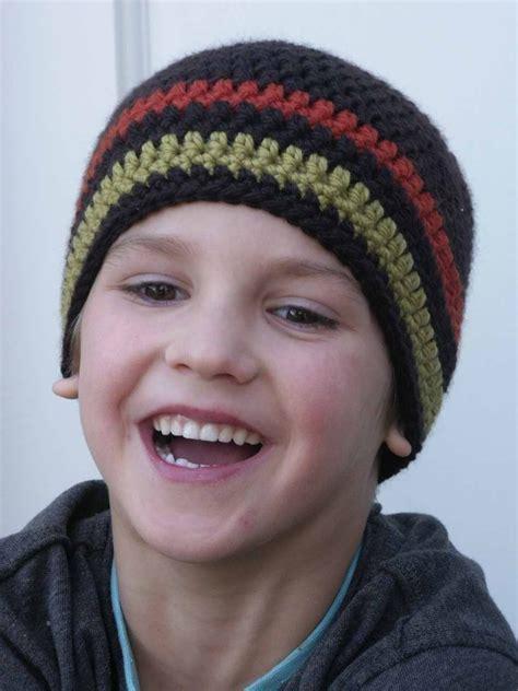 Boy Hat crochet hat pattern boys easy peasy beanie with optional