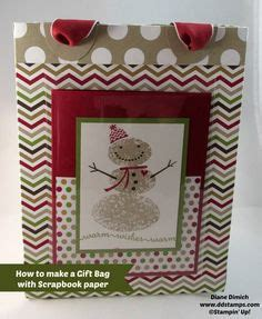 How To Make A Paper Bag Scrapbook - 3 d projects on fry box stin up and treat