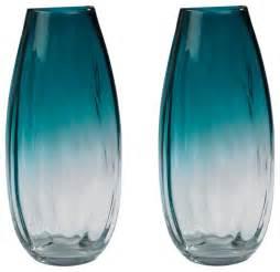 dimond home aqua ombre vase set of 2 contemporary