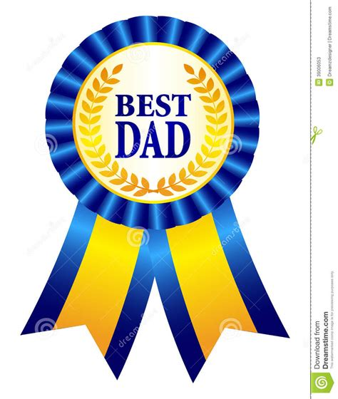 best dad ribbon clipart