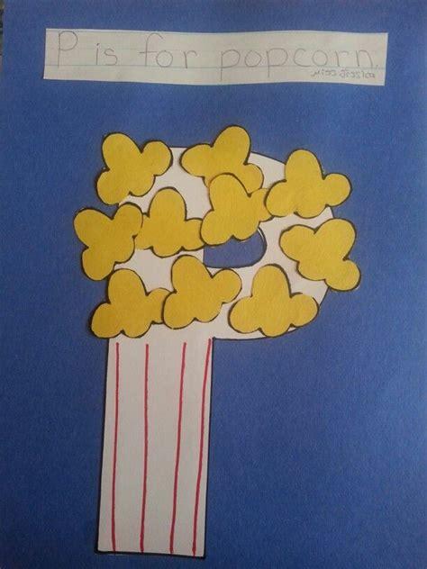 popcorn crafts for letter p is for popcorn craft letter p crafts