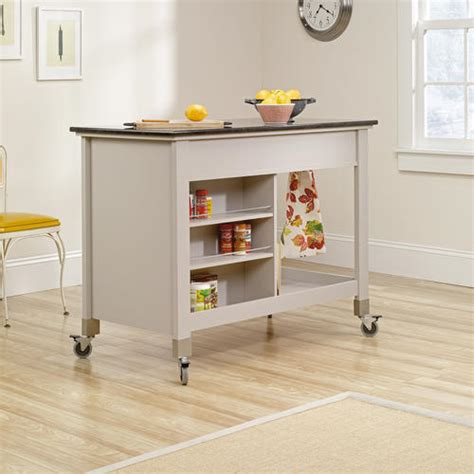 sauder original cottage cobblestone mobile kitchen island