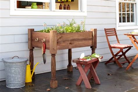 diy herb garden planter raised herb garden planter diy tutorial hip image
