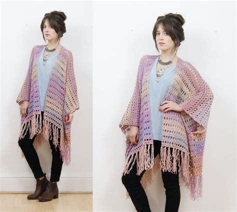 crochet pattern kimono sweater crochet kimono cardigan boho cardigan fringe kimono