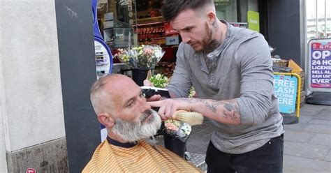 haircut deals manchester city centre big hearted barber to the homeless filmed out on city