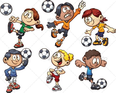 soccer kids by memoangeles graphicriver kids soccer cartoon 187 tinkytyler org stock photos graphics