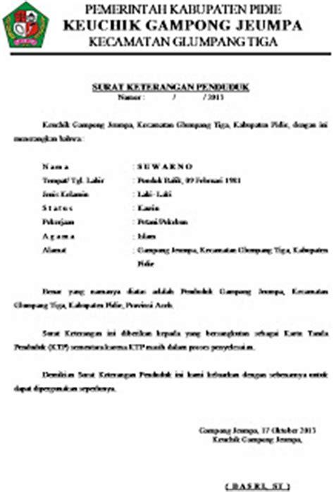 contoh surat keterangan tidak mu dari kelurahan the knownledge
