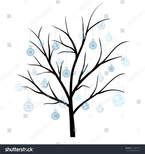 winter tree snowflakes stock vector beautiful winter tree snowflakes leaves vector stock vector 117331471