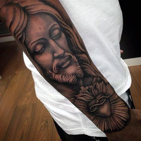 tattoo jesus unterarm 100 sacred heart tattoo designs f 252 r m 228 nner religi 246 se ink