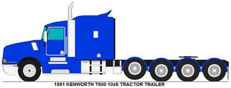 kw tractor trailer kenworth t600 10x6 tractor trailer by misterpsychopath3001
