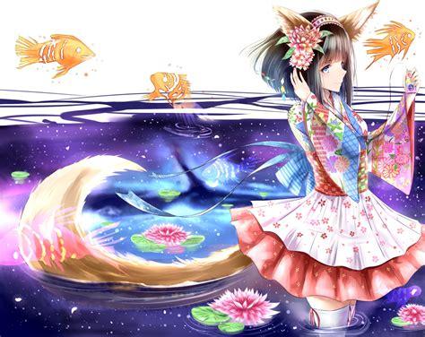 anime fish girl anime girl wallpaper and background image 1500x1193 id
