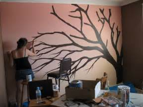 Wall Stickers Glow In The Dark painting cherry blossom tree by aeriith on deviantart