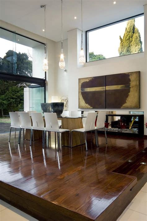 dining area single storey home with flat roof for future vertical