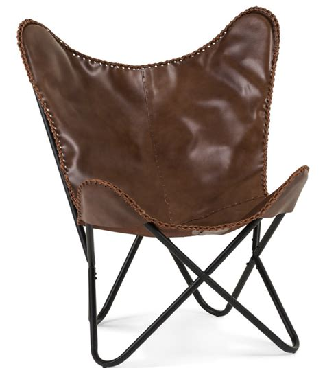 leather butterfly chair lookalikes tan leather butterfly chairs the design edit