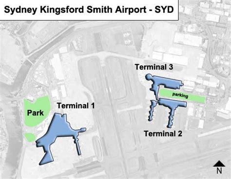 sydney airport diagram sydney kingsford smith syd airport terminal map