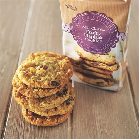 m s fruity flapjack cookies the best oaty products telegraph