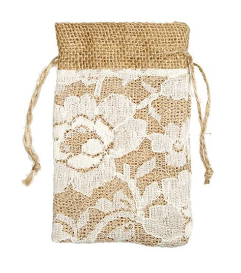 lace burlap bags shabby chic wedding ideas from jo ann