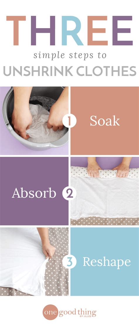 Us 3in1 Wash how to unshrink your clothes in 3 simple steps one thing by jillee