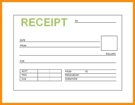 Open Office Receipt Template by Open Office Receipt Template Free Beautiful Template
