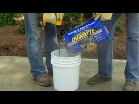 how to use quikrete concrete resurfacer the home depot youtube youtube