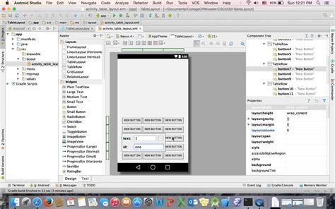 android studio tablelayout rowspan android tutorial tablelayout youtube
