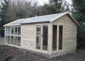 combination greenhouse potting shed green house glass
