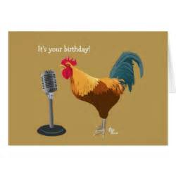 Rooster birthday card zazzle