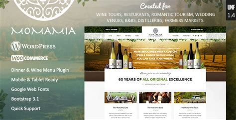 download free momamia restaurant winery woocommerce wp