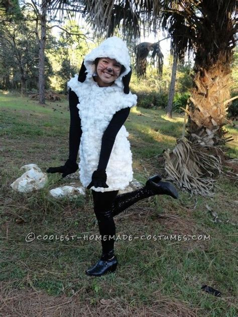 Handmade Sheep Costume - unique costume idea sheep costume for