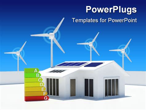 powerpoint template eco friendly house with solar panels