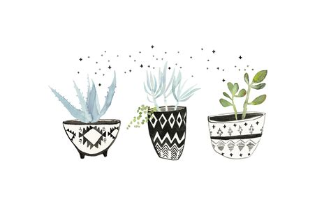 Cute Succulent Planters by 30 Free Beautiful Watercolor Wallpapers That Should Be