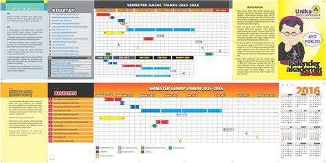 desain kalender akademik kalender akademik tahun 2015 2016 akademik unika