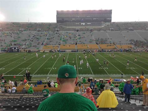notre dame stadium bench seat notre dame stadium section 17 rateyourseats