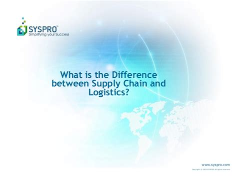 What Is Mba In Logistics And Supply Chain Management by What Is The Difference Between Supply Chain And Logistics