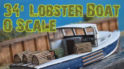 lobster boat model o scale 34 lobster boat frenchman river model works